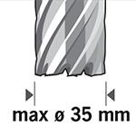Carota de pana la 35 mm