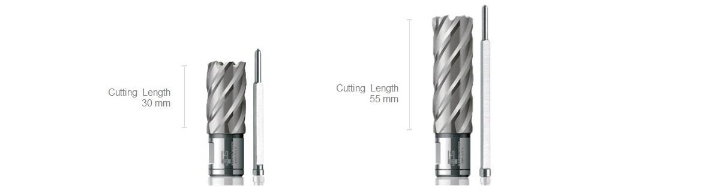 Carote BDSS HSS-Co 8%, cu diametru intre 12 mm si 60 mm, adancime de taiere intre 30 mm si 55 mm, prindere 19 mm Weldon